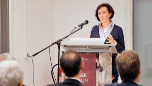 Manja Puschnerus ergriff für die Curt Mast Jägermeister Stiftung das Wort.