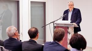 Dieter Kertscher überraschte das Publikum mit einem Gedicht.