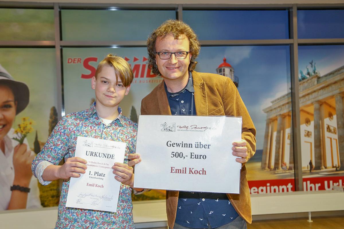 Emil Koch (1. Platz Einzelwertung) und Tobias Wagner.