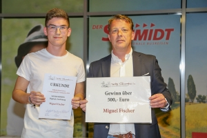 Miguel Fischer (Sieger digitaler Sonderpreis) mit Steffen Maschke