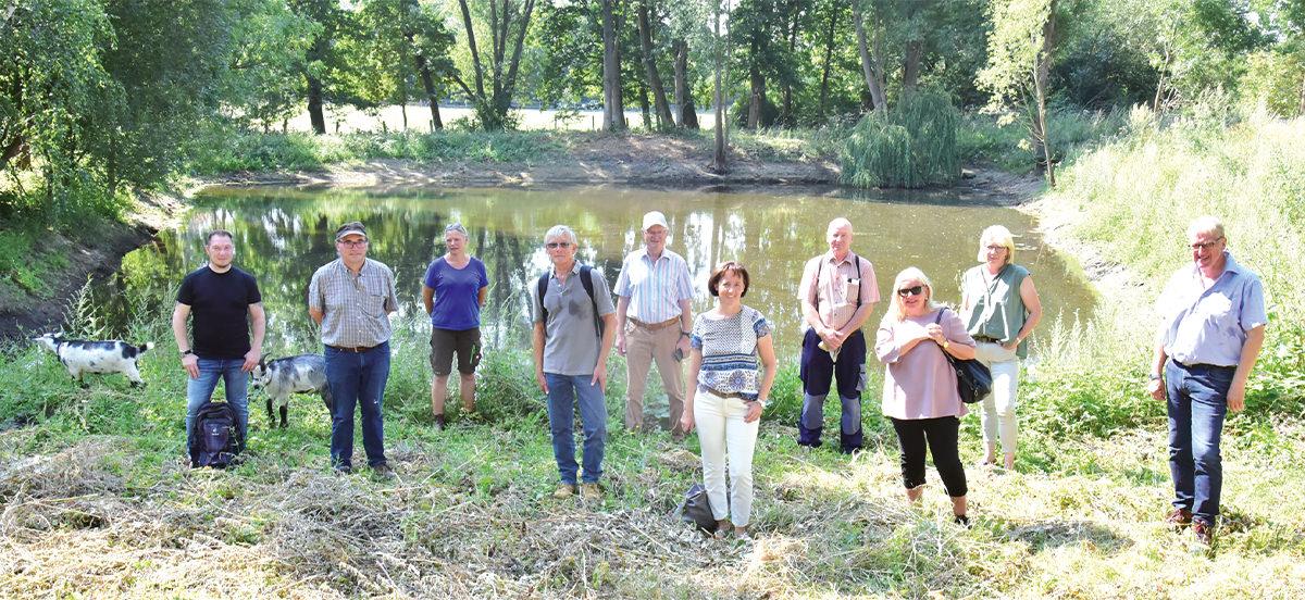 Gemeinsame Aktion: Teich in Wendessen wurde aufwendig renaturiert
