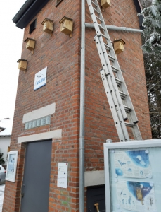 Der umgebaute Hordorfer Trafoturm