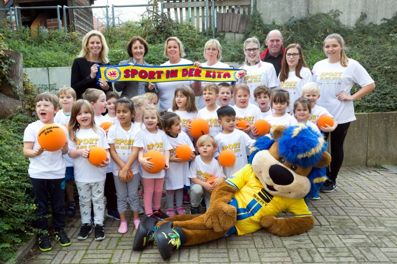 Pressemitteilung 120 Kids in Wolfenbüttel kommen durch Sport in der Kita in Bewegung 2. November 2017
